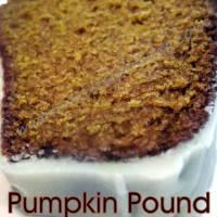 Pumpkin Pound Cake with a Maple Glaze
