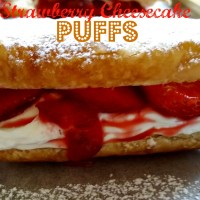 Strawberry Cheesecake Puffs & Video #SundaySupper