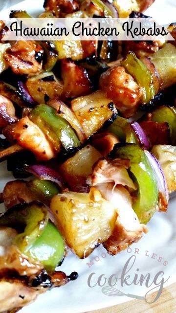 Hawaiian Chicken Kebabs #SundaySupper