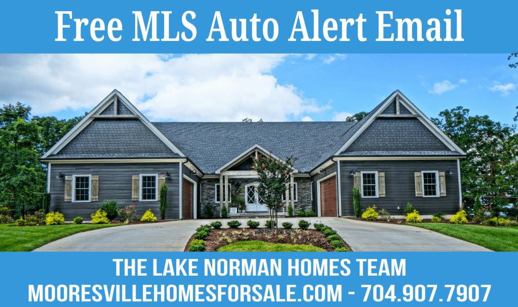 Mooresville MLS Homes For Sale Email Alert