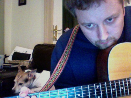 Buddy and me study a chord