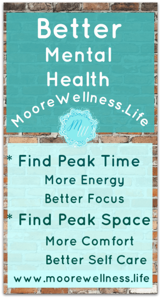 better mental health with peak time and peak space