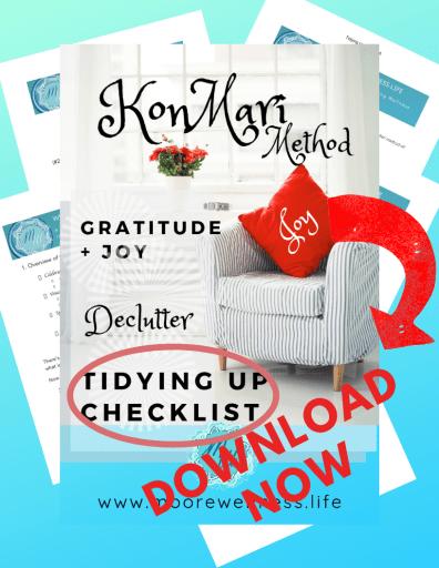 KONMARI Tidying Up Checklist preview