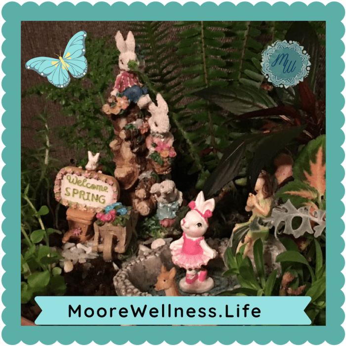 MooreWellness.Life shares how to make fun fairy gardens, ideas with DIY miniatures, and gifts for family memories.