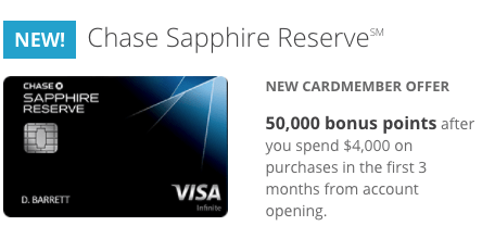 Chase Sapphire Reserve 50,000 Point Signup Bonus A Good Deal?