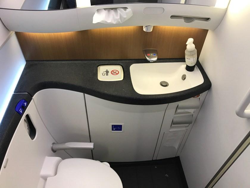 American 787 Business Class Bathroom