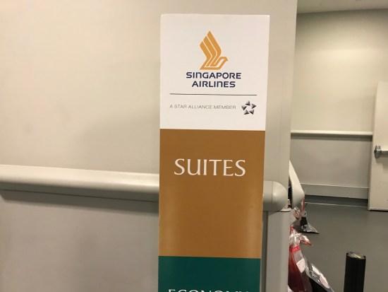 Singapore Airlines Suites Jetbridge Signage