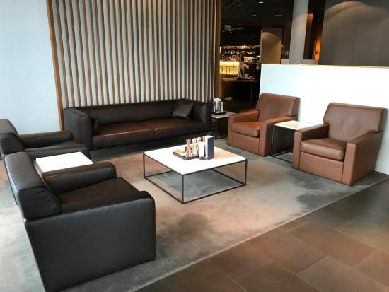 Lufthansa First Class Terminal Seating Area