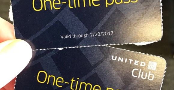 My One Time United Club Passes Actually Arrived
