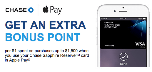 Earn Extra Ultimate Rewards Points With Apple Pay