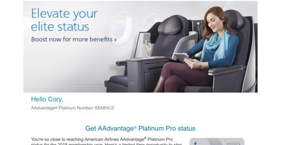 My New Insulting AAdvantage Platinum Pro Buy Up Offer