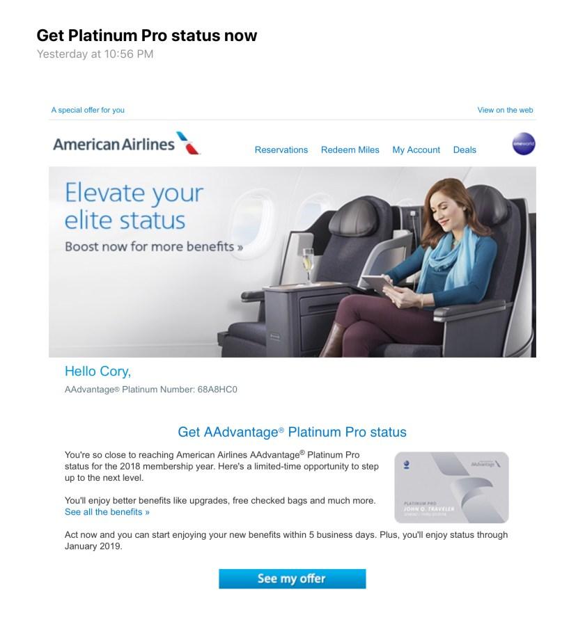 Get Platinum Pro Status Now