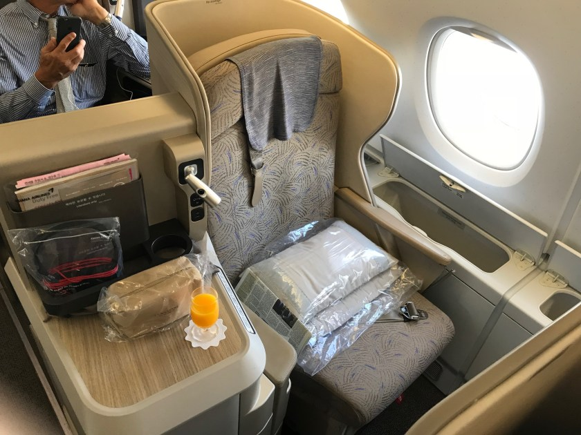Asiana Airlines A380 Smartium Business Class Window Seat