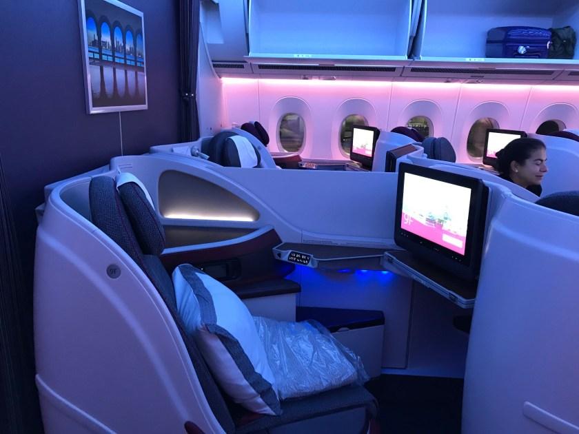 Qatar Airways A350 Business Class Seat 9F