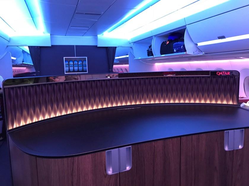 Qatar Airways A350 Business Class Rear Bar