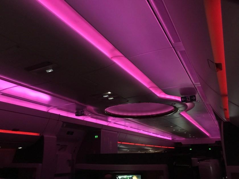 Qatar Airways A350 Business Class Mood Lighting
