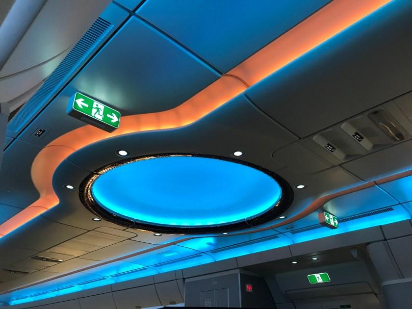 Qatar Airways A350 Dome Blue
