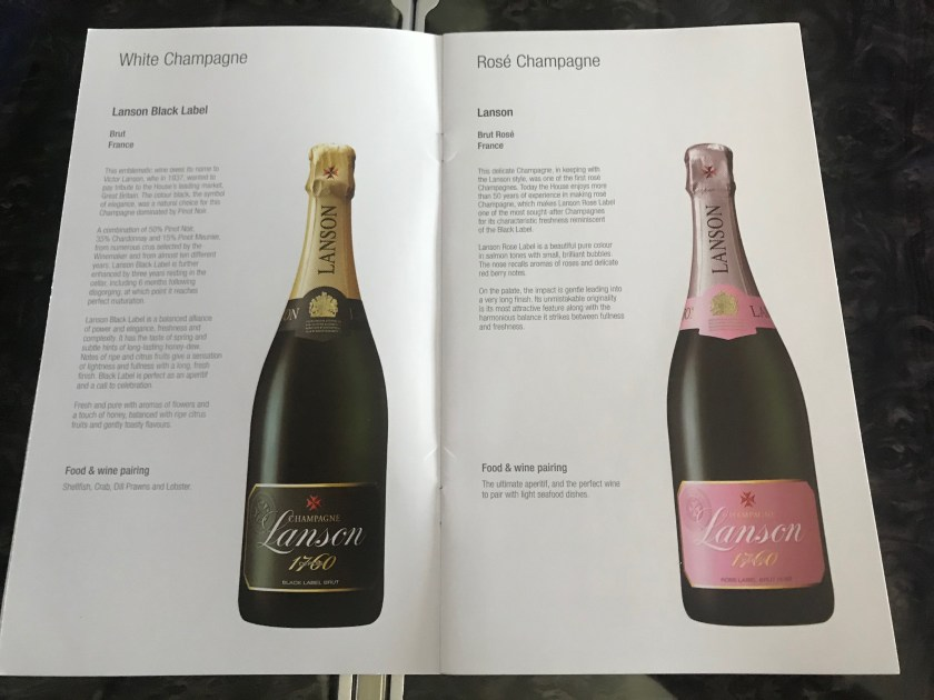 Champagne Options Qatar Airways A350 Business Class