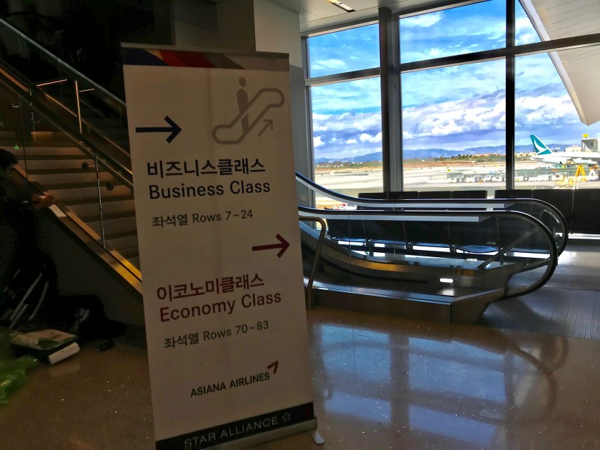 Asiana Airlines Boarding Poster