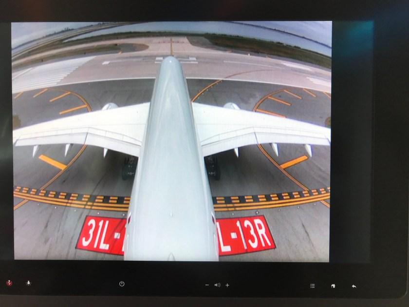 Qatar Airways A350 Business Class Tail Camera