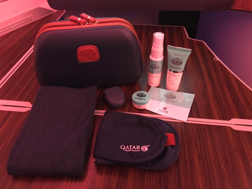 Qatar Airways A350 Business Class Bric's Amenity Kit