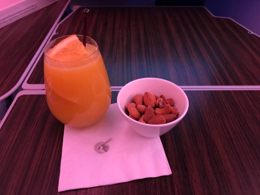 Qatar Airways A350 Business Class Warm Nuts