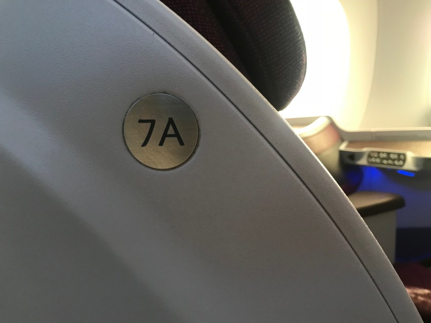 Qatar Airways A350 Business Class Seat 7A