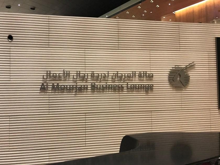 Al Mourjan Business Class Lounge Signage