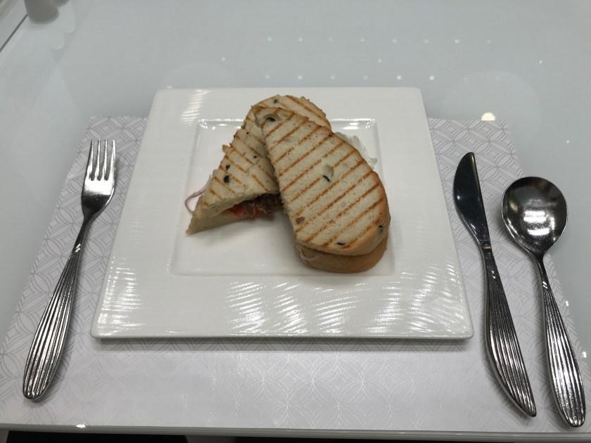 Al Mourjan Business Class Lounge Dining Resort Deli Lamb Sandwich