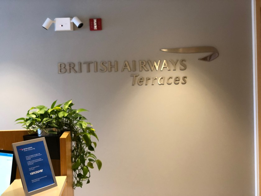 British Airways First Class Lounge Chicago O'Hare Signage