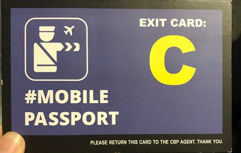 Mobile Passport Card