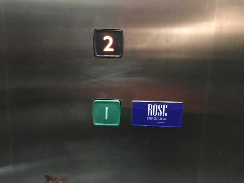 The Rose Business Lounge Elevator
