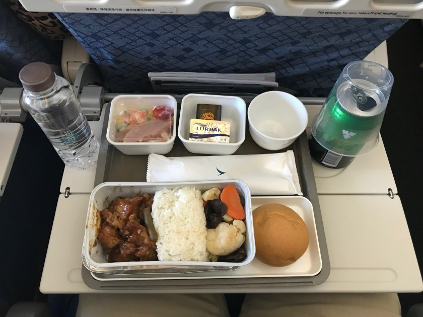 Cathay Pacific 777-300ER Economy Class Lunch