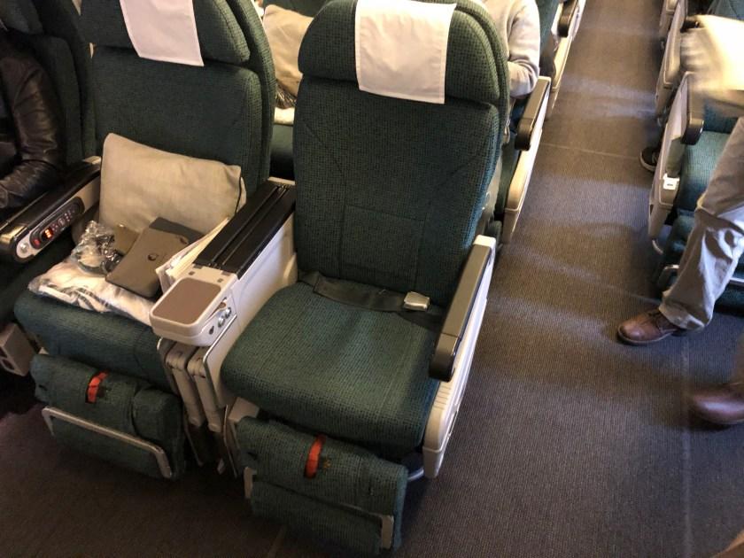 Cathay Pacific 777 Premium Economy Seat 30D