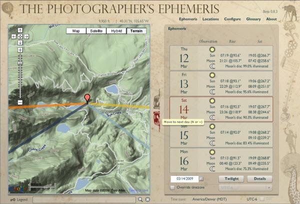 Moor Fotografie Planning Fotomoment Fotolocatie Photographer's Ephemeris
