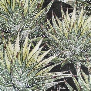 CoralBloom Apron Denim Pocket Succulents