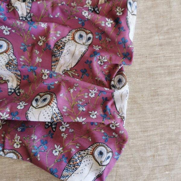 CoralBloom Microfiber Buff Barn Owl on Pink