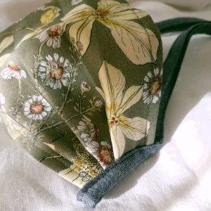 Morea Green Botanical Printed Reusable Cotton Face Mask
