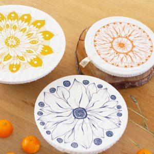 Halo Dish and Bowl Cover Large Set of 3   Edible Flowers