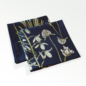 CoralBloom Greenery Napkins Cotton Set of Two Folded