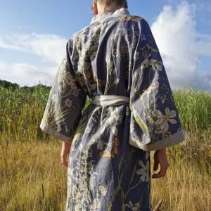 CoralBloom Kimono Purelinen Back View