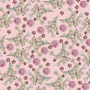 CoralBloom Kimono Purelinen Vygies on Dusky Pink