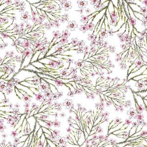 CoralBloom Tablecloth Cotton Jamesbrittenia on White