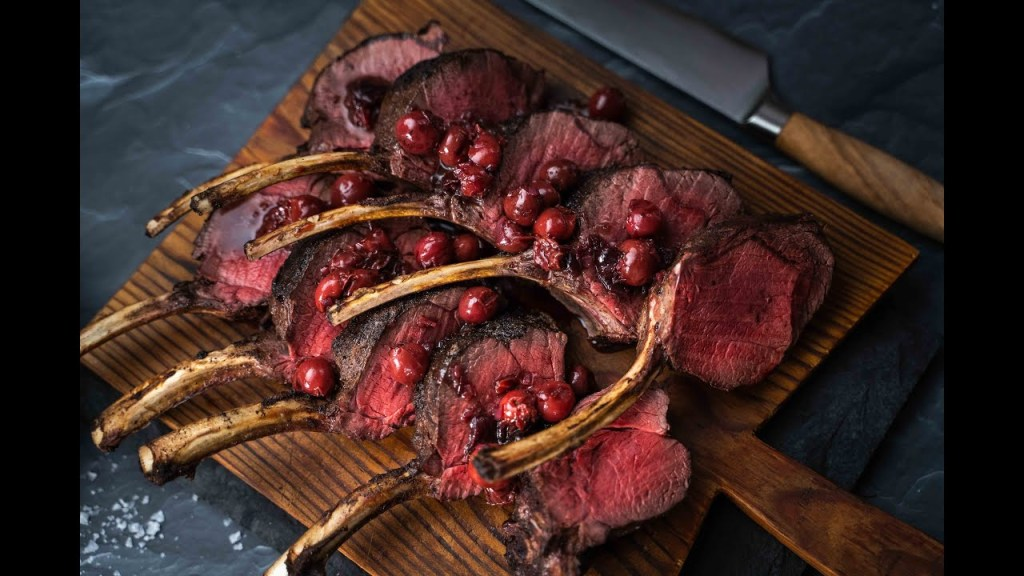 Rack of venison, roasted carrots & forager sauce - Recipe