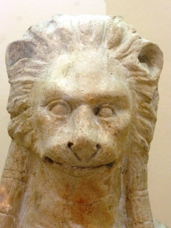 Punic lion-headed goddess