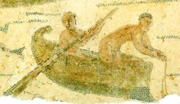 Detail of a maritime mosaic