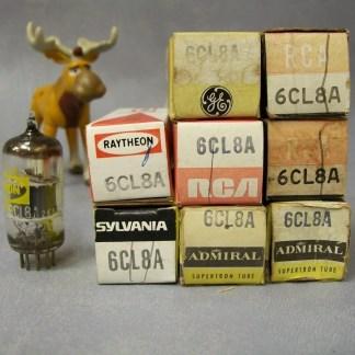 6CL8A Vacuum Tubes Lot of 8 RCA / Ratheon / Sylvania / Admiral / GE