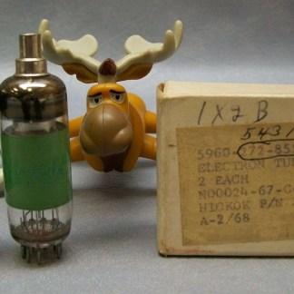 1X2B Vacuum Tube Sylvania Matched Pair Military Grade