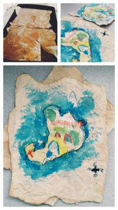 Paper Tea staining & Treasure Maps