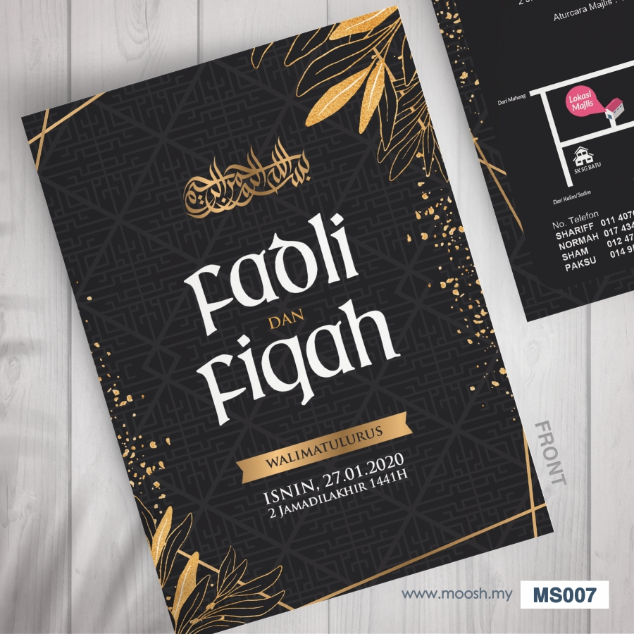 Exclusive Design Kad Kahwin by Moosh